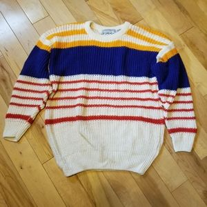 Vintage Forenza striped white blue red sweater S